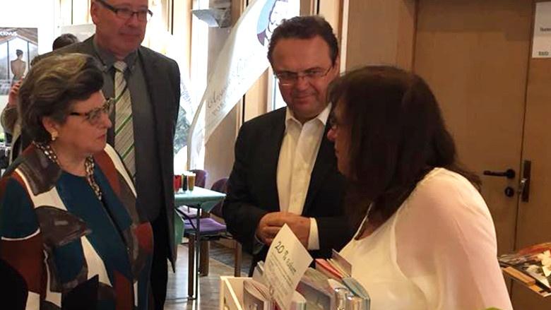Dr. Hans-Peter Friedrich bei der Eröffnung der Gewerbemesse in Wunsiedel am 14.04.2018