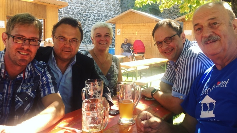 Tag 8 Frühschoppen beim diesjährigen Carolinenfest in Hohenberg a. d. Eger