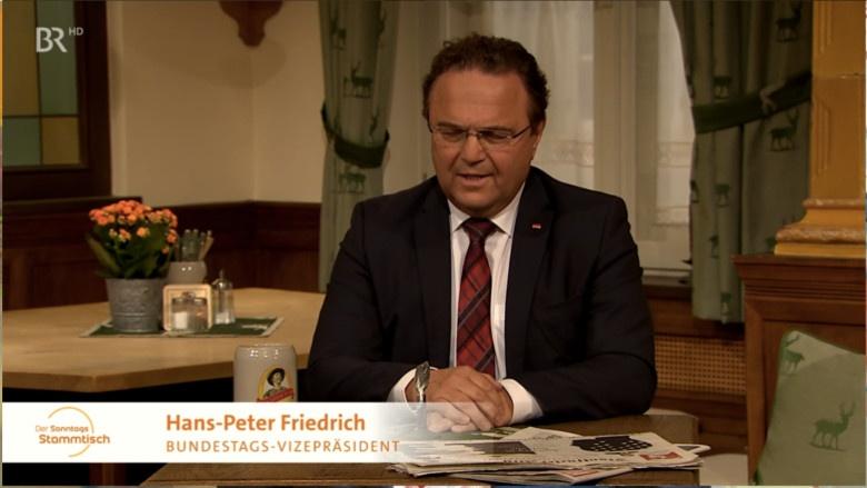 Hans-Peter Friedrich zu Gast beim Sonntags Stammtisch des BR Fernsehen