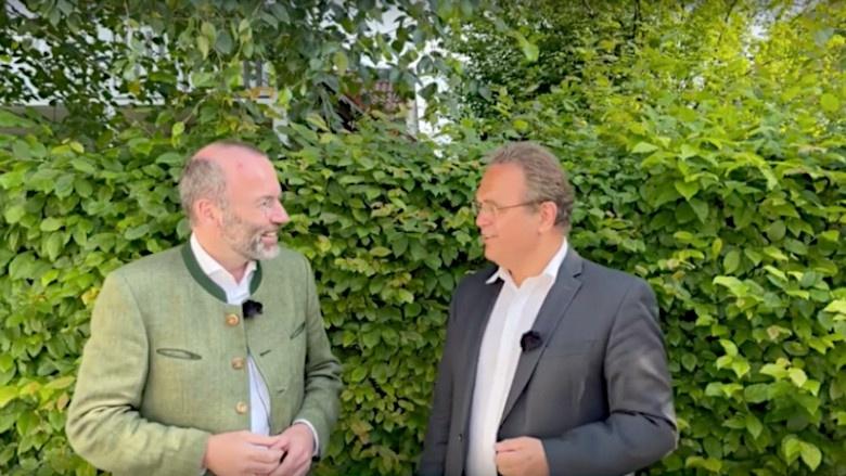 Dr. Hans-Peter Friedrich im Gespräch mit Manfred Weber, Chef der größten Fraktion im Europäischen Parlament