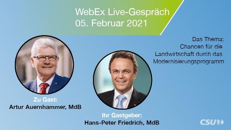 Der agrarpolitische Sprecher der CSU im Bundestag, Artur Auernhammer MdB, und Dr. Hans-Peter Friedrich, MdB