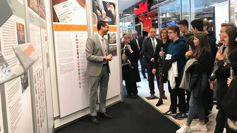 Ausstellung des Deutschen Bundestages im Kösseine-Einkaufs-Center