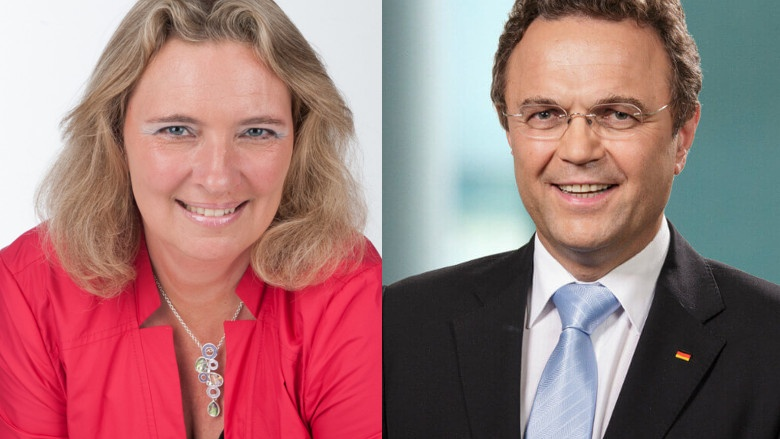 Bayerische Staatsministerin für Wohnen, Bau und Verkehr, Kerstin Schreyer, MdL, und Dr. Hans-Peter Friedrich, MdB