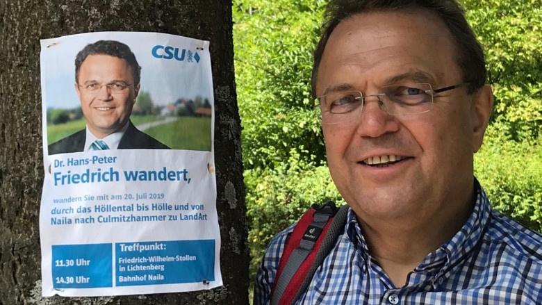Impressionen aus dem Wahlkreis, Wahlkreiswanderung 2019 mit Hans-Peter Friedrich