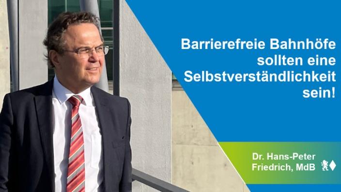 Dr. Hans-Peter Friedrich zur Barrierefreiheit
