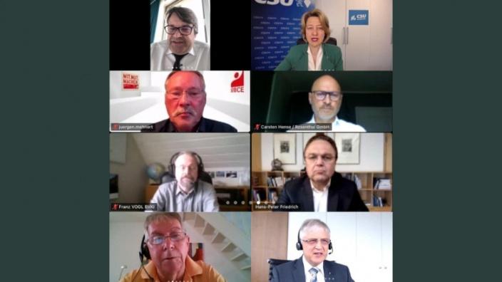 Teilnehmer der digitalen Gesprächsrunde