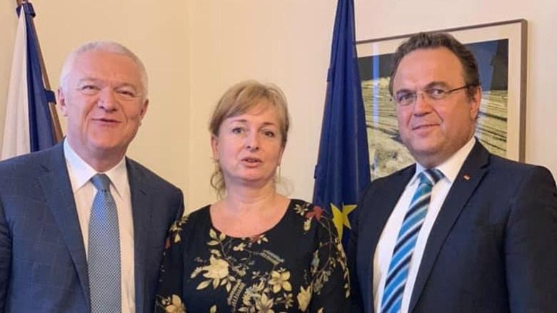 Gedankenaustausch mit dem Fraktionsvorsitzenden der Regierungsfraktion ANO Jaroslav Faltynek und der Abgeordneten Monika Červíčková