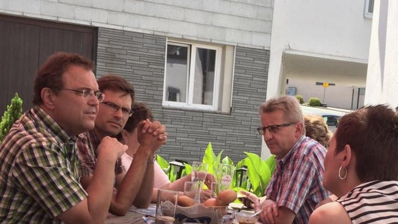 WK-Wanderung Tag 4 - Issigau, pol. Gespräche