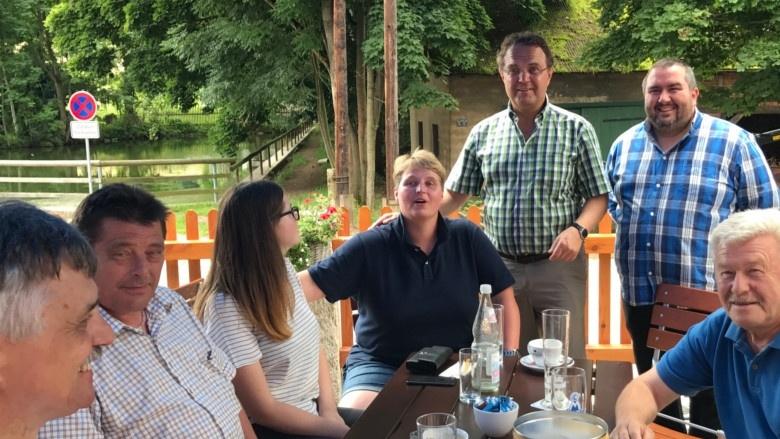 Tag 6 Brotzeit mit dem CSU Ortsverband in Gattendorf