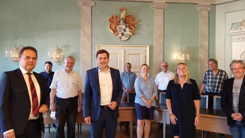 Hans-Peter Friedrich zu Besuch bei Nicolas Lahovnik (1. Bürgermeister)in Wunsiedel